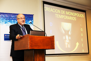 "Carlos Baradello during his conference titled:  ""Constructing an Entrepreneurial Ecosystem"""